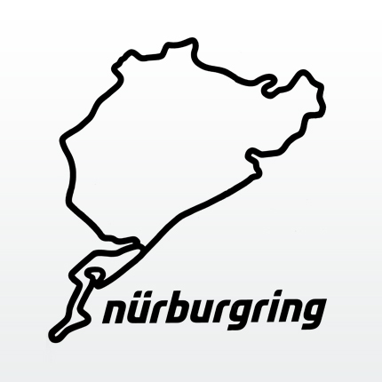 Nurburgring wall decor : shilouette/Details:1