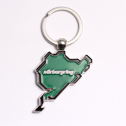 Keyring incl. trolley coin Green/Details:1
