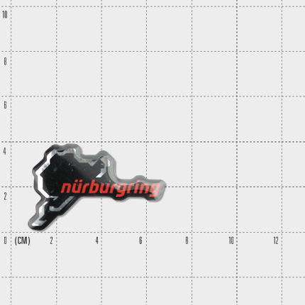"3D Sticker Nurburgring ""new logo"" 6cm black/red/Details:1"