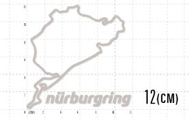ニュルステッカー(classic):12cmシルバー