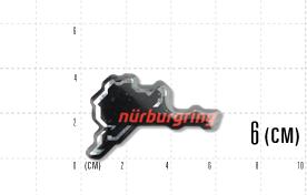 3Dステッカー(ニューロゴ) : 6cmブラック・レッド